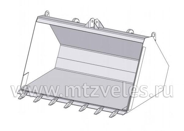 Ковш с зубьями ПБМ-1200-9 (0,5 м3)